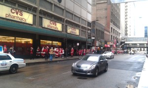 Santas as far as they eye can see!