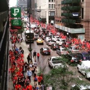 Parade, mob, tomato, tomahto